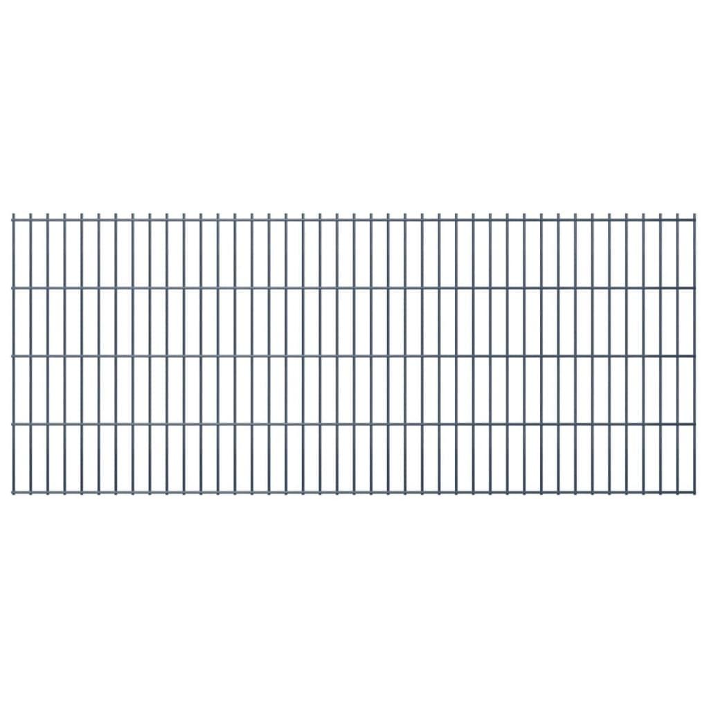 vidaXL-Set22-Pannelli-di-recinzione-2D-giardino-2008x830mm-44m-grigio-in-acciaio