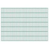 vidaXL Panneaux de clôture 2D pour jardin gris 2008x1430 mm 10 m