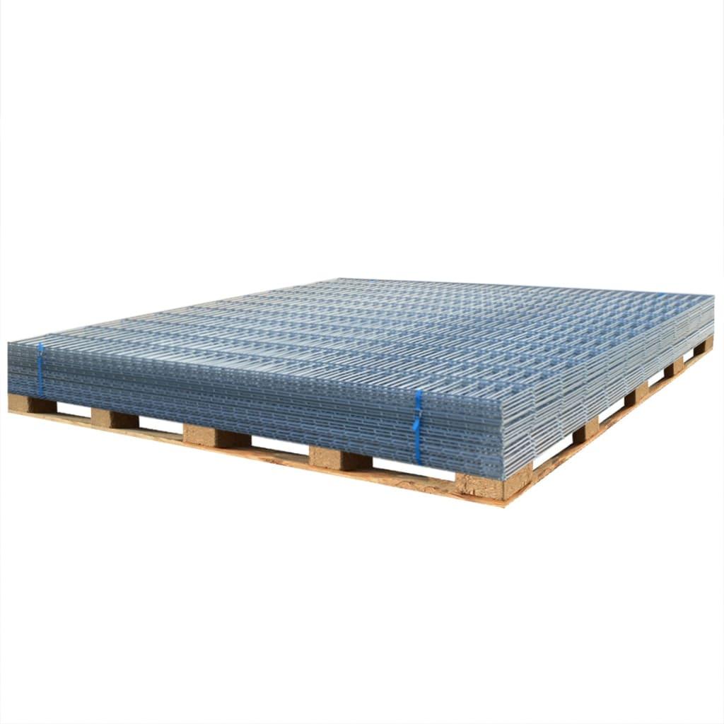 vidaxl doppelstabmattenzaun gartenzaun 2008x1630 mm 24 m verzinkt g nstig kaufen. Black Bedroom Furniture Sets. Home Design Ideas