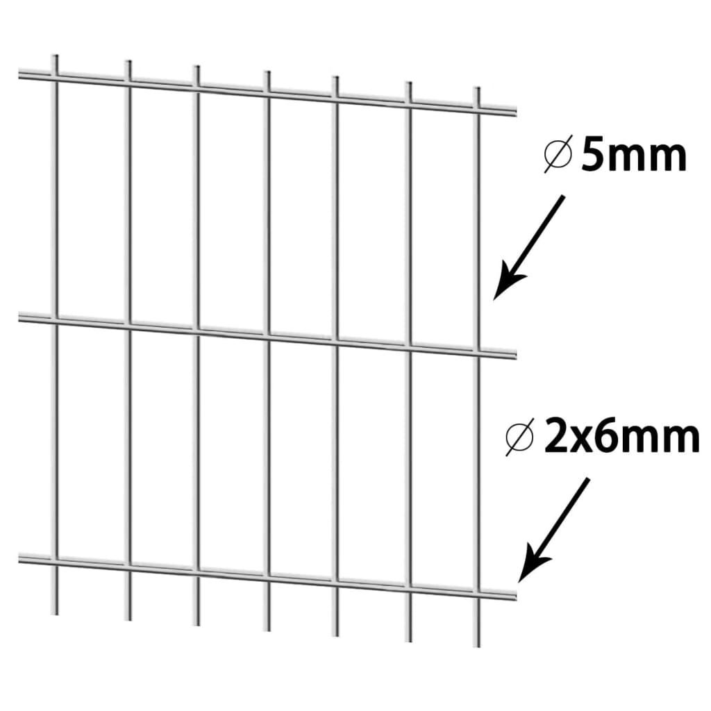 Vidaxl pannelli recinzione giardino 2d 2008x1830 mm 32 m for Pannelli recinzione giardino