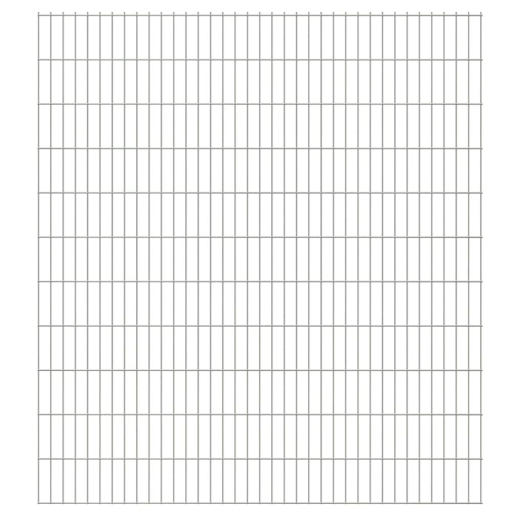 vidaXL-Set-6-Pannelli-recinzione-giardino-recinto-2D-2008-x-2230-mm-12-m-argento