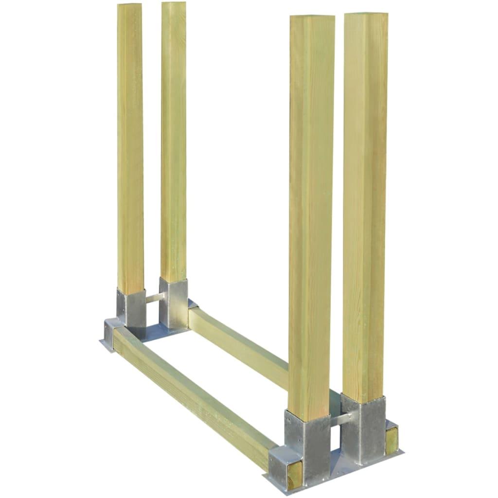 acheter vidaxl clayette en bois pour bois de chauffage 1000x340x1000 mm pas cher. Black Bedroom Furniture Sets. Home Design Ideas