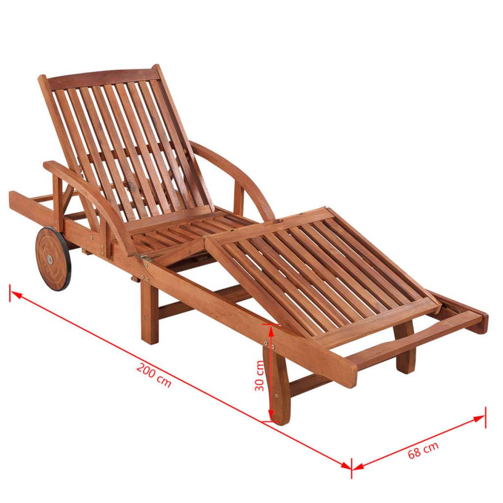 Acheter vidaxl ensemble de chaises longues 3 pi ces en for Chaises longues en bois