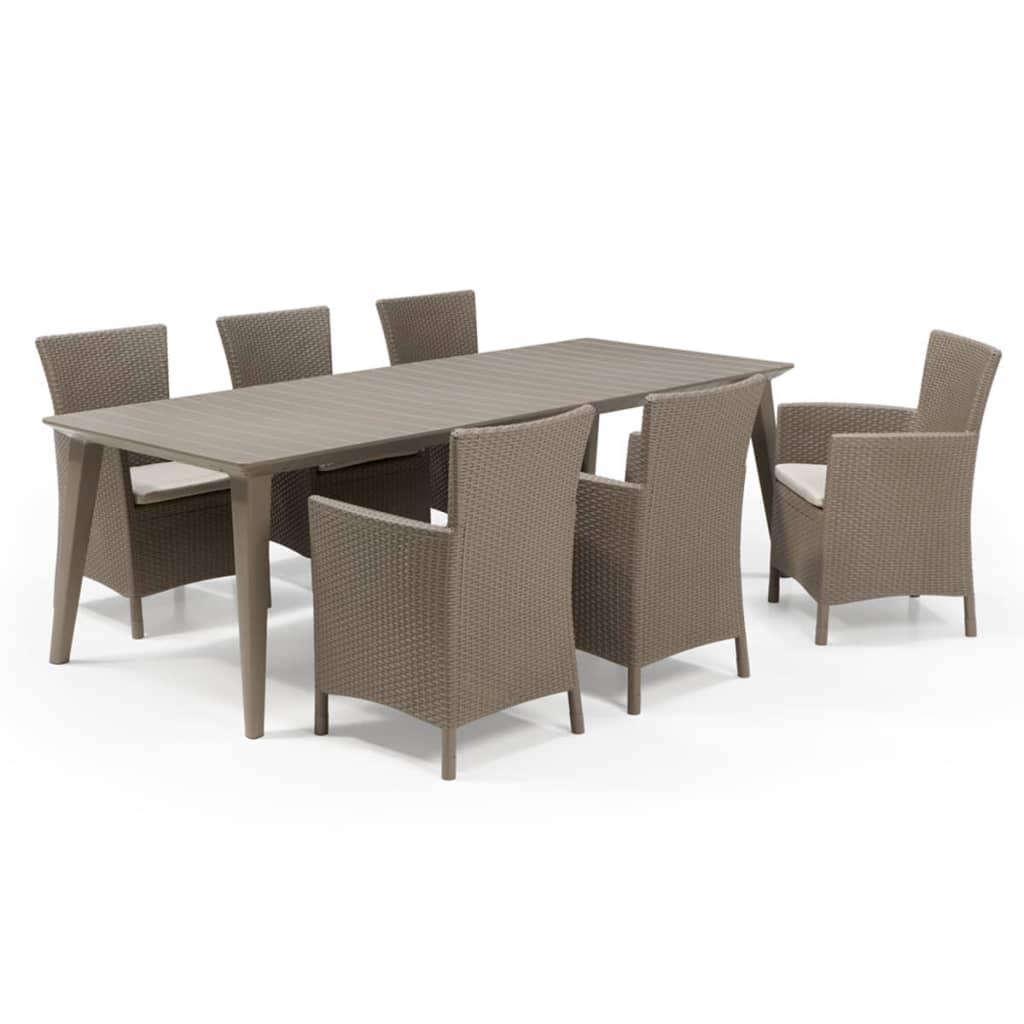 allibert mobilier de jardin 7 pi ces judy cappuccino. Black Bedroom Furniture Sets. Home Design Ideas