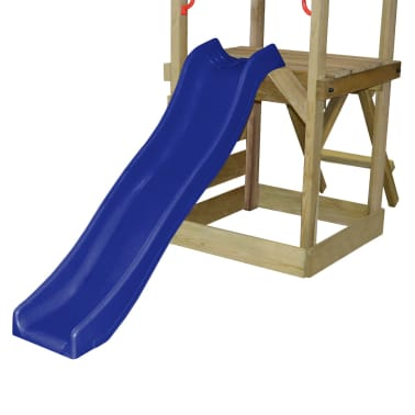 vidaXL Playhouse Set with Ladder, Slide and Swings 290x260x245 cm Wood[5/8]