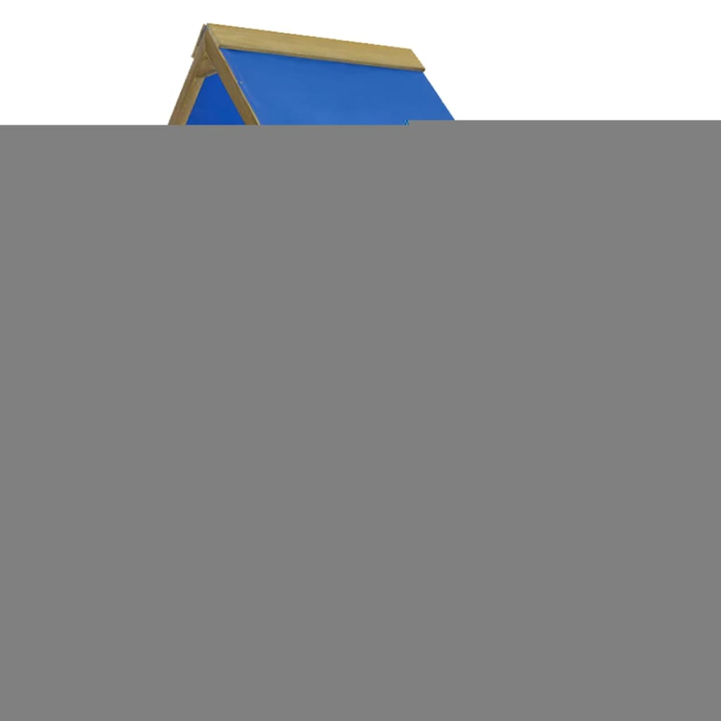 vidaXL Játszóház szett létrával, csúszdával 260x90x245 cm fa