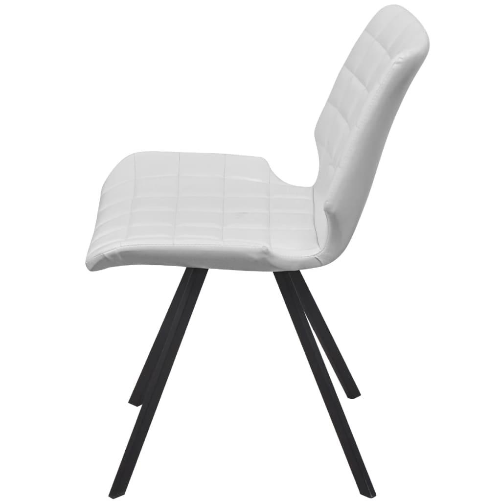 Vidaxl set de sillas de comedor cuero sint tico 6 piezas for Sillas comedor cuero blanco