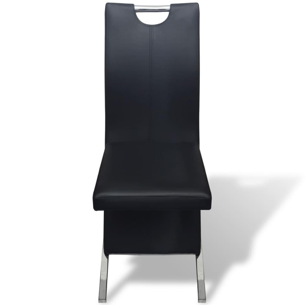 Acheter vidaxl chaises de salle manger 6 pcs noir en for Salle a manger en solde