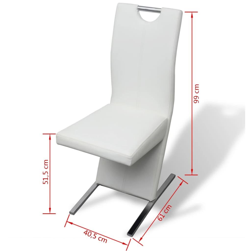 Vidaxl 6 sillas de comedor dise o estilizado de cuero for Sillas de salon de diseno