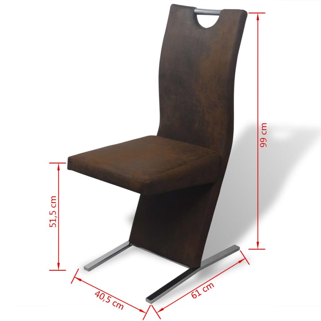 vidaxl esszimmerst hle 4 stk stoff braun g nstig kaufen. Black Bedroom Furniture Sets. Home Design Ideas