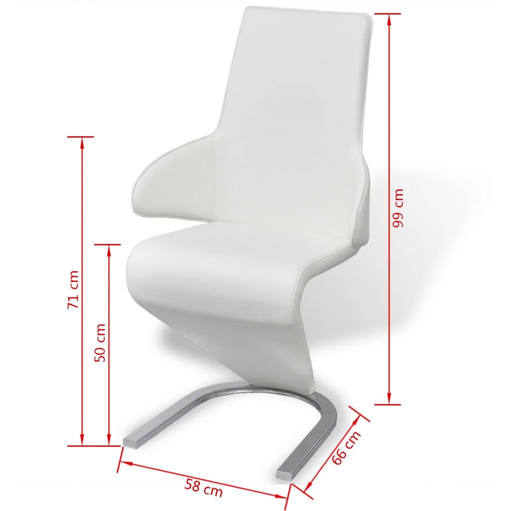 Acheter vidaxl chaises de salle manger cantilever 4pcs for Acheter des chaises de salle a manger
