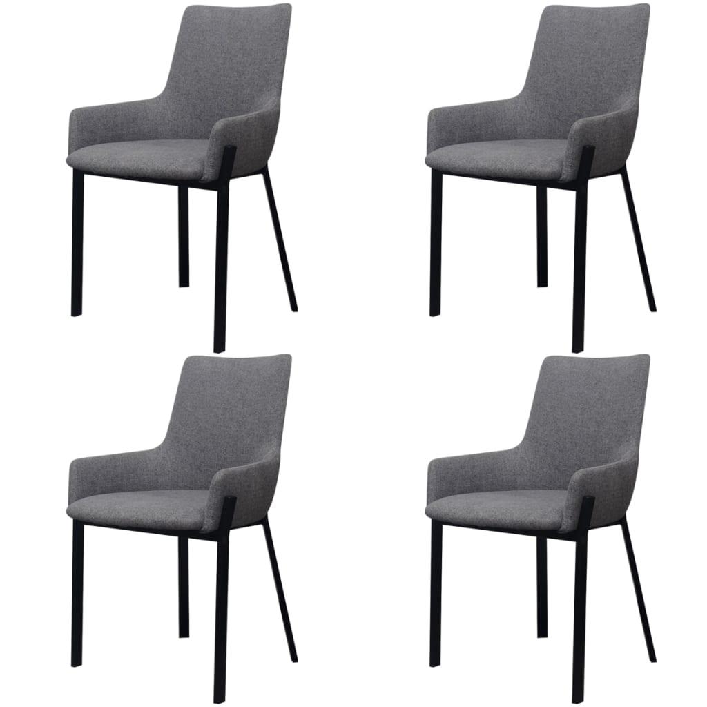 La boutique en ligne vidaxl chaises de salle manger 4 for Chaise salle a manger gris clair
