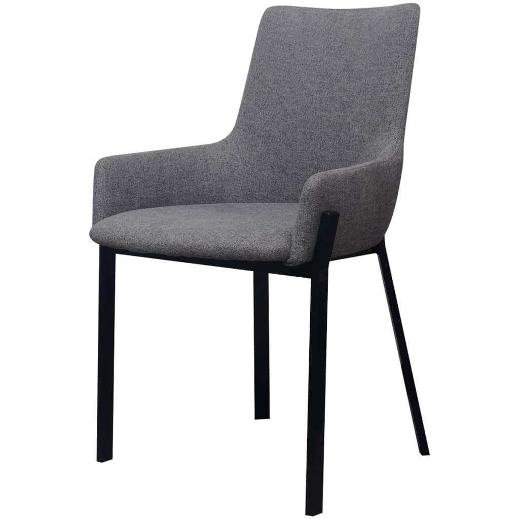 Vidaxl sillas de comedor 6 uds tela gris claro for Sillas comedor gris
