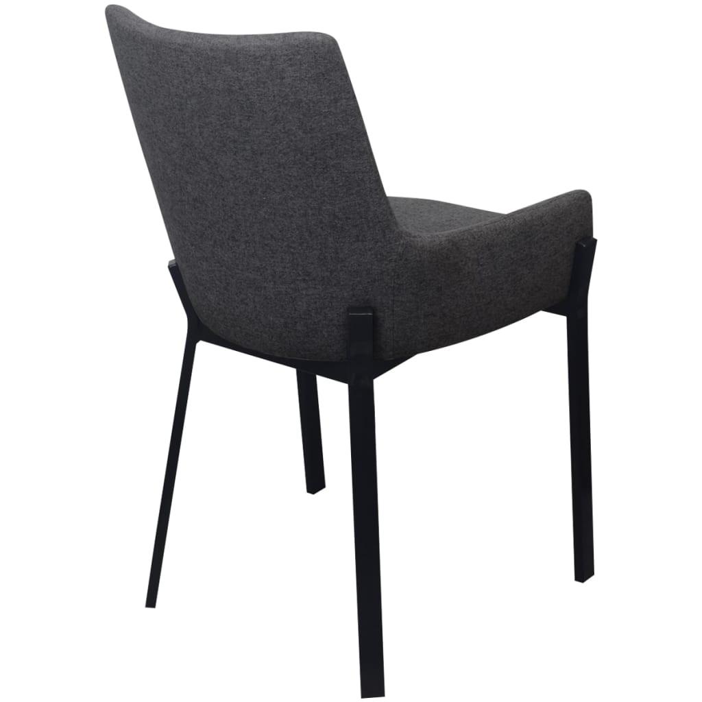 Acheter vidaxl chaises de salle manger 4 pcs gris fonc for Chaise salle a manger tissu gris