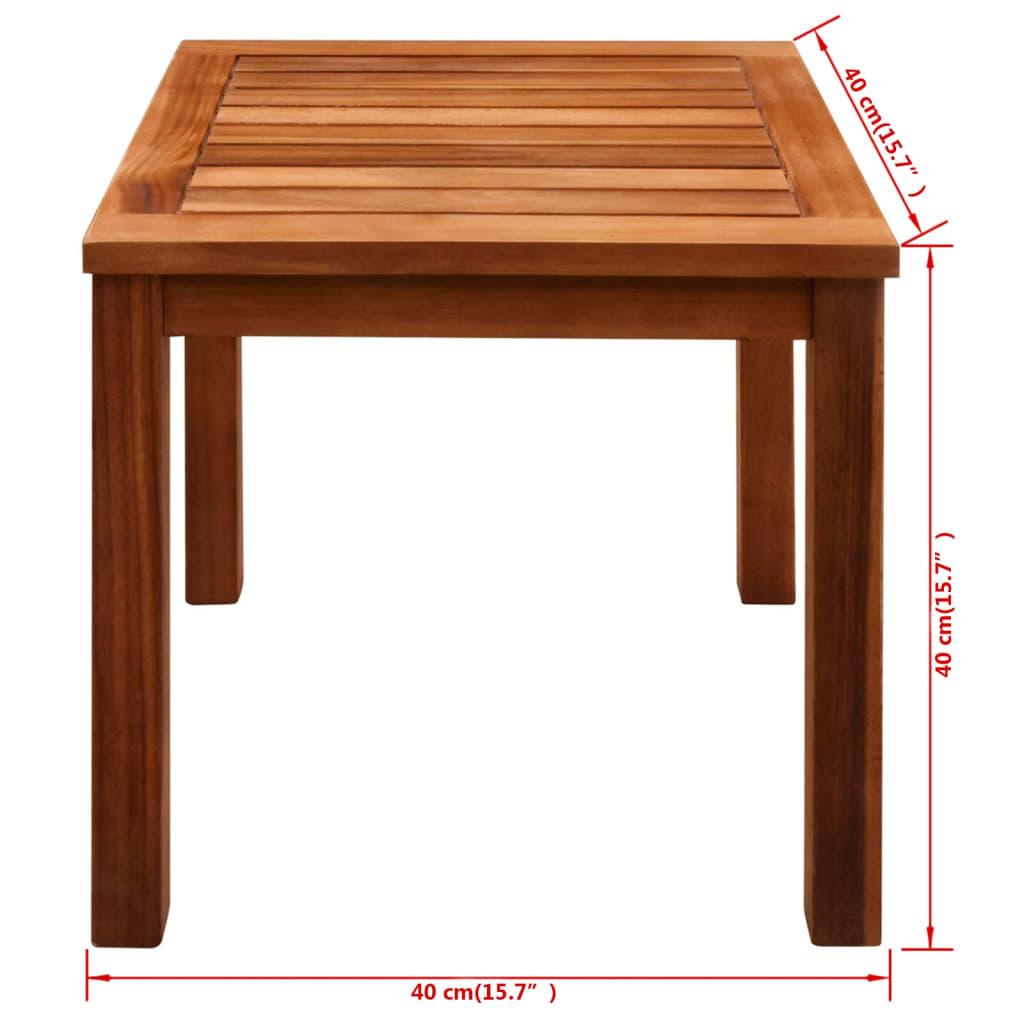vidaxl conjunto de tumbonas 3 piezas madera de acacia. Black Bedroom Furniture Sets. Home Design Ideas