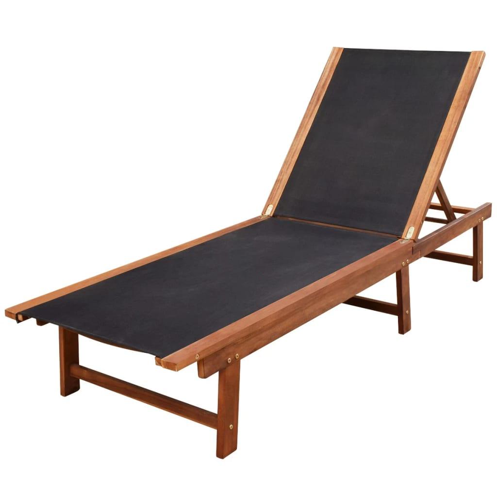 vidaxl dreiteiliges sonnenliegen set akazienholz g nstig. Black Bedroom Furniture Sets. Home Design Ideas