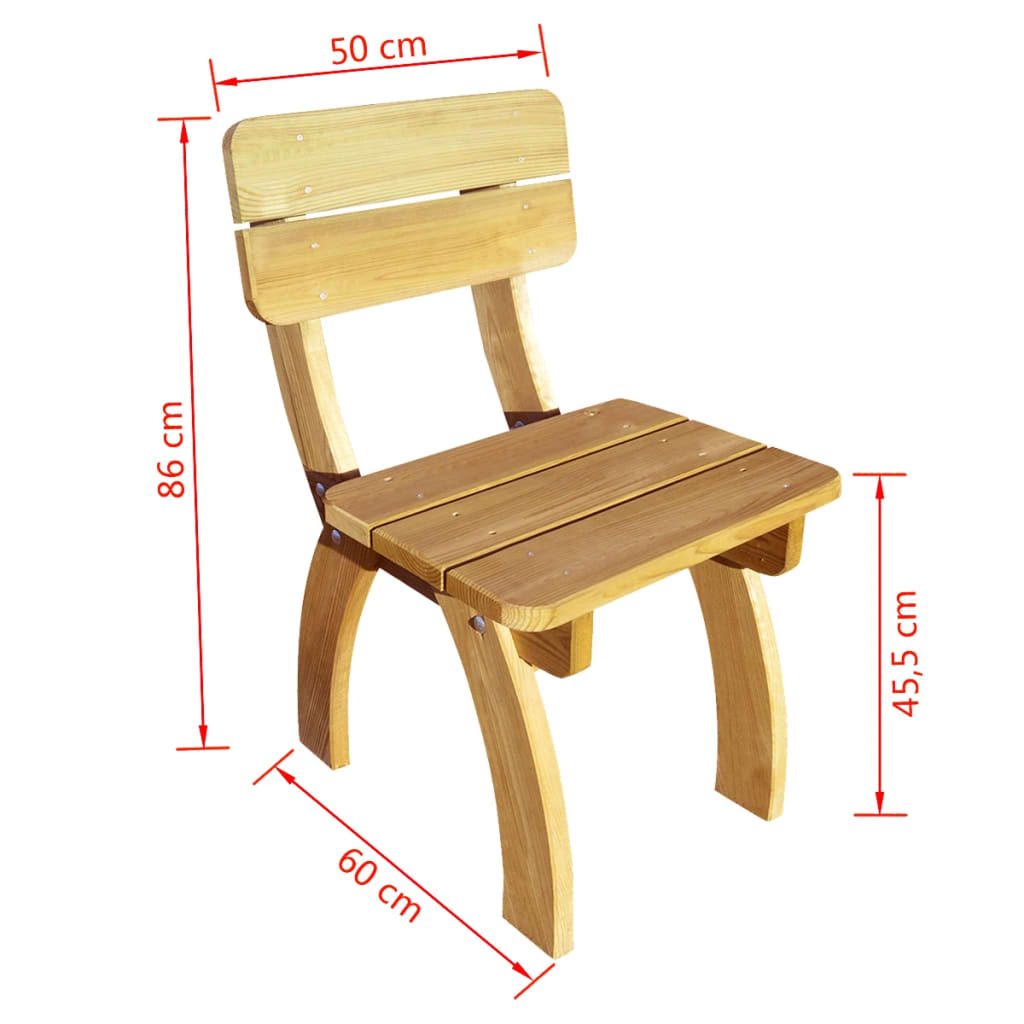 Acheter vidaxl chaises de jardin 2 pcs en bois de pin for Chaise de jardin en solde