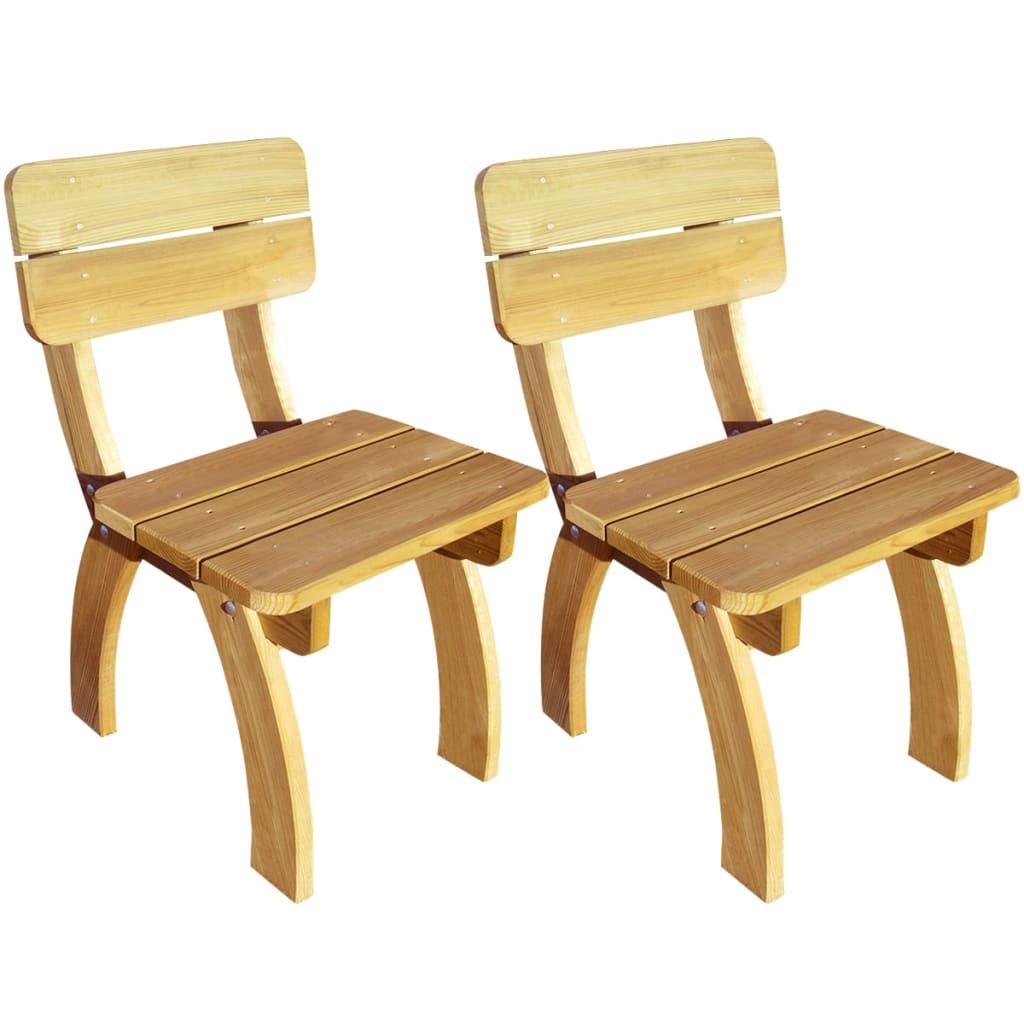 Vidaxl sedie da giardino 2 pezzi laccate in legno di pino - Pino nano da giardino ...