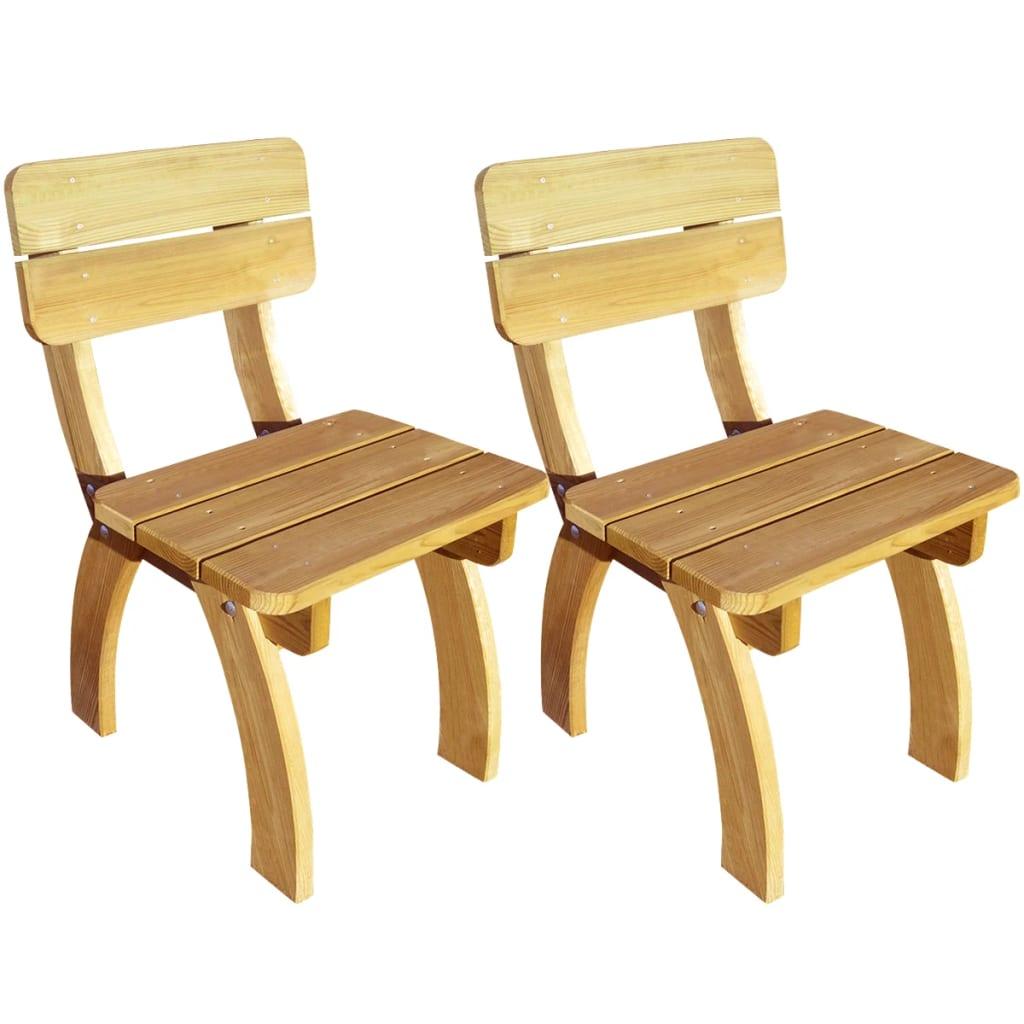 vidaXL 2 db impregnált fenyőfa kerti szék