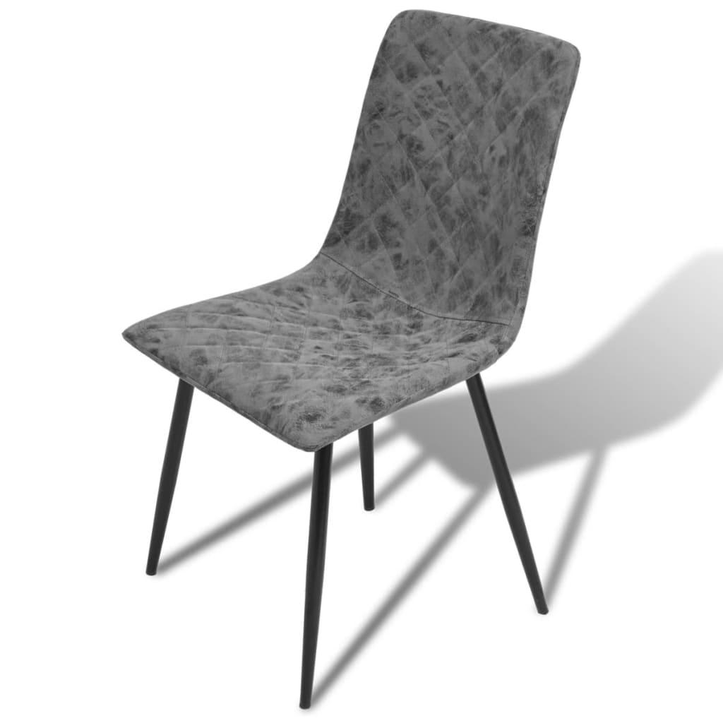 Vidaxl sillas de comedor de cuero artificial 6 unidades for Sillas de comedor de cuero