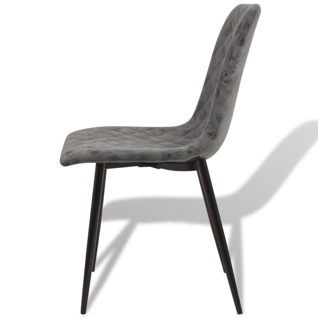 Acheter vidaxl chaises de salle manger 6 pcs en simili for 6 chaises salle a manger pivotant simili cuir