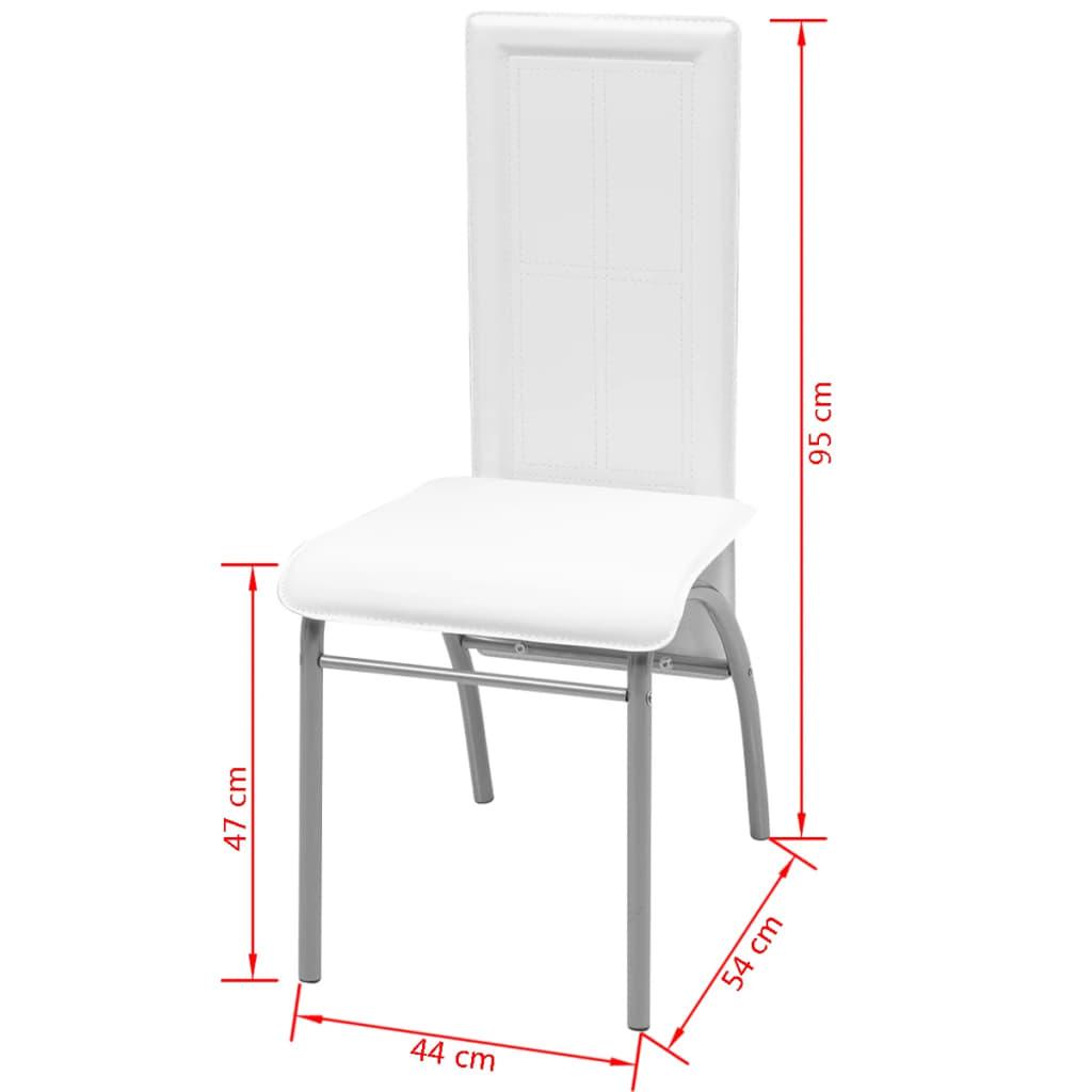 Acheter vidaxl chaise de salle manger 6 pi ces blanc pas for Salle a manger solde