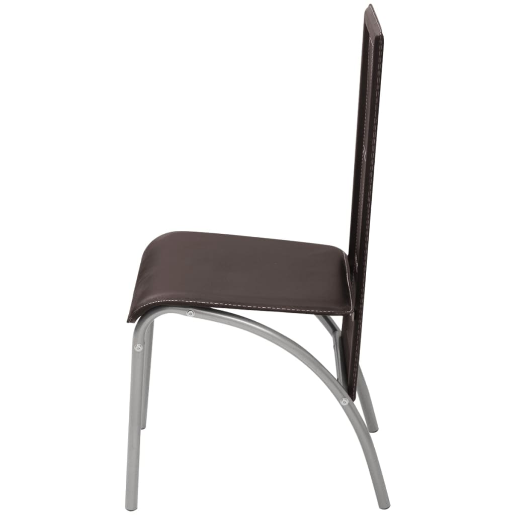 Vidaxl sillas de comedor 6 unidades marrones for Sillas marrones