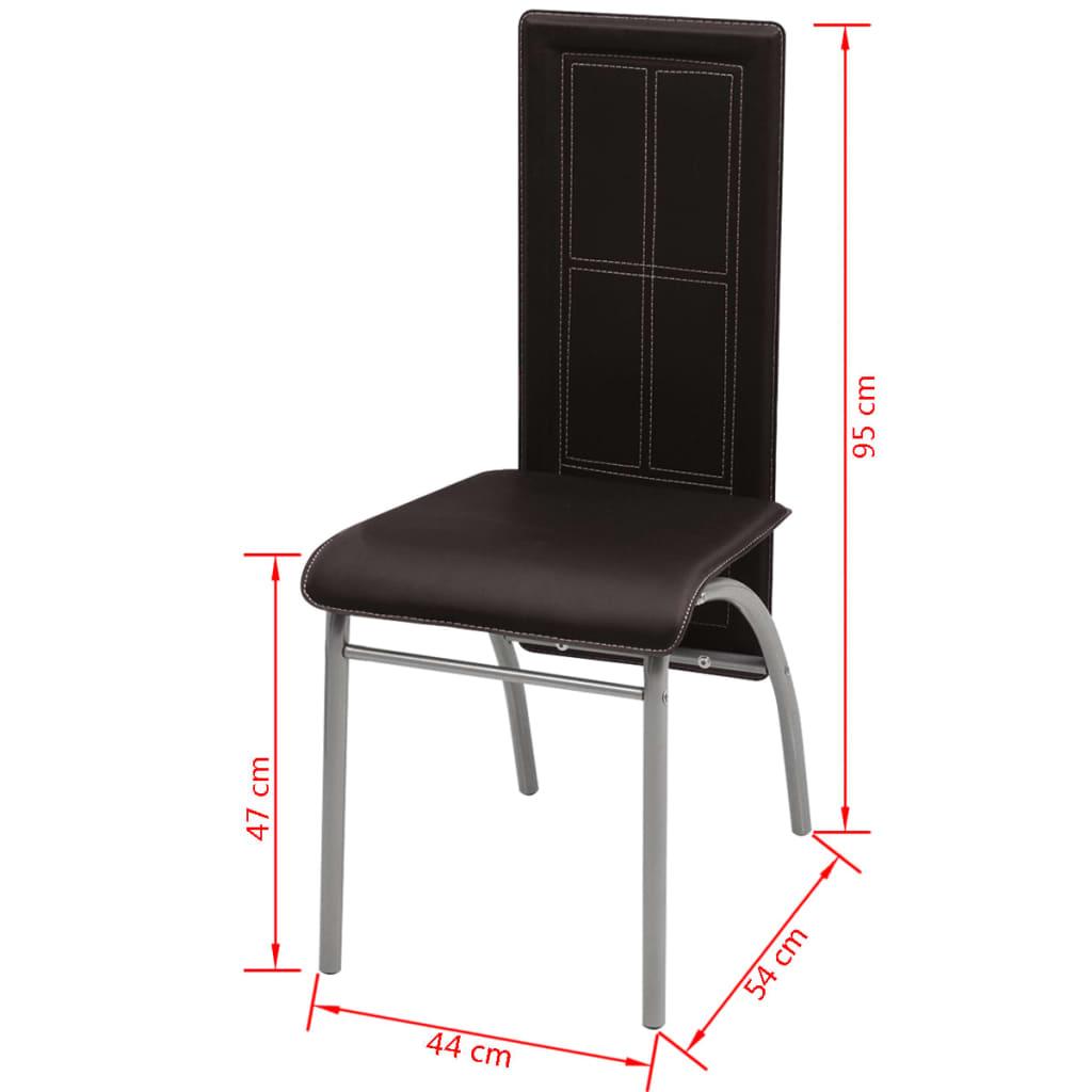 Acheter vidaxl chaise de salle manger 6 pi ces marron for Salle a manger solde