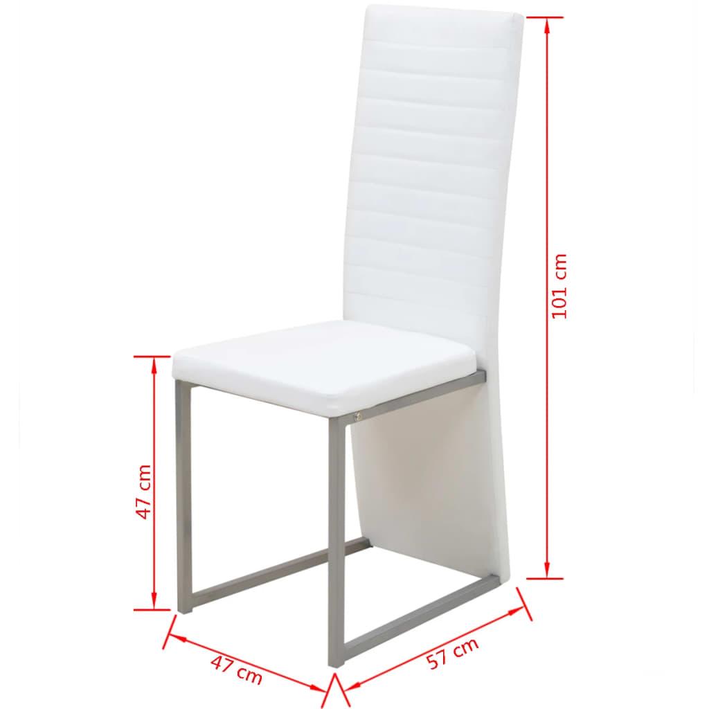Vidaxl sillas de comedor 6 unidades blancas for Sillas blancas para comedor