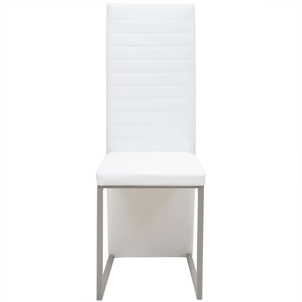 Vidaxl sillas de comedor 6 unidades blancas - Sillas blancas comedor ...