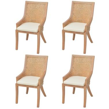 vidaxl esszimmerst hle 4 stk rattan zum schn ppchenpreis. Black Bedroom Furniture Sets. Home Design Ideas