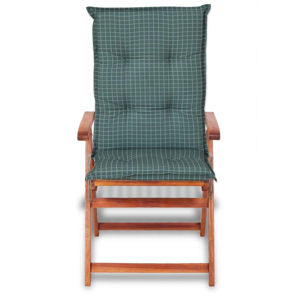Vidaxl coj n para sillas de jard n 6 unidades 117x49 cm for Cojin para sillas