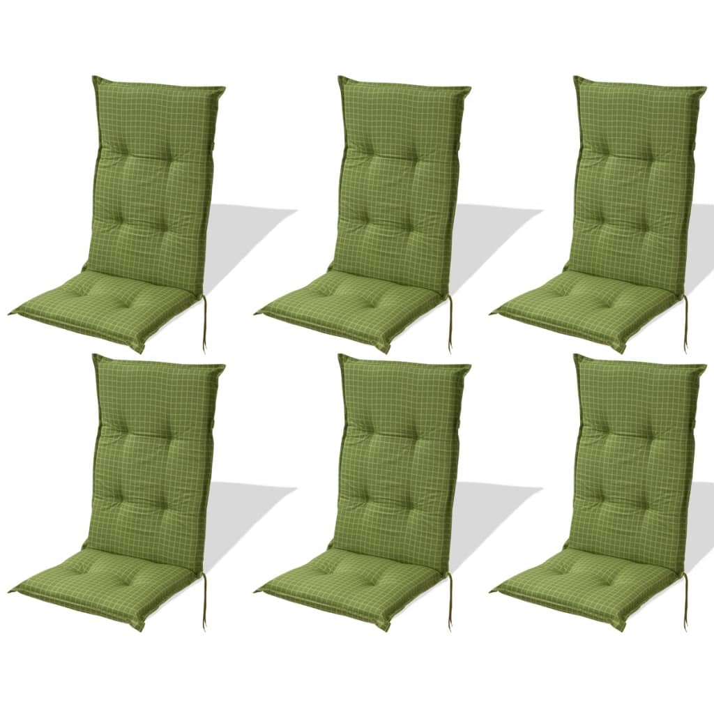 acheter vidaxl coussins de si ge de jardin 6 pcs 117x49 cm vert pas cher. Black Bedroom Furniture Sets. Home Design Ideas