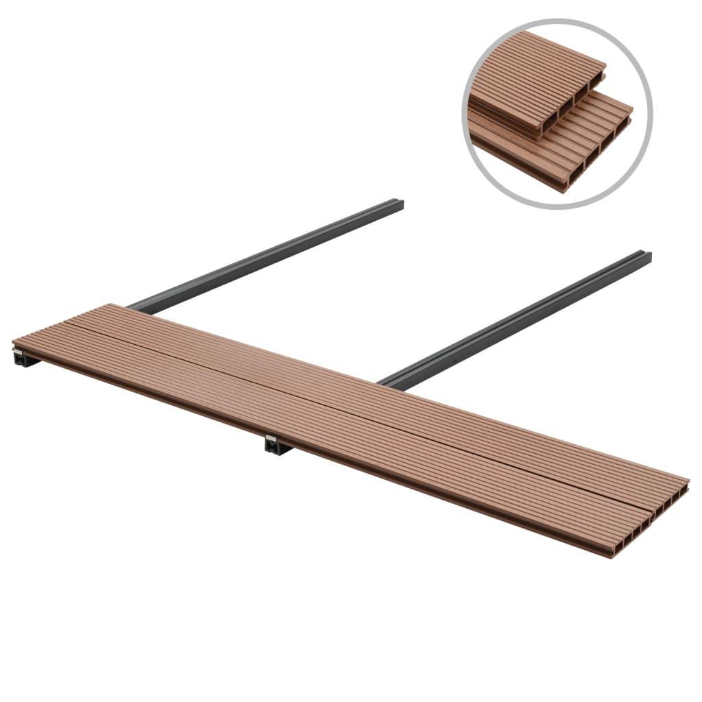 vidaxl wpc terrassendielen mit zubeh r 16 m brown g nstig. Black Bedroom Furniture Sets. Home Design Ideas
