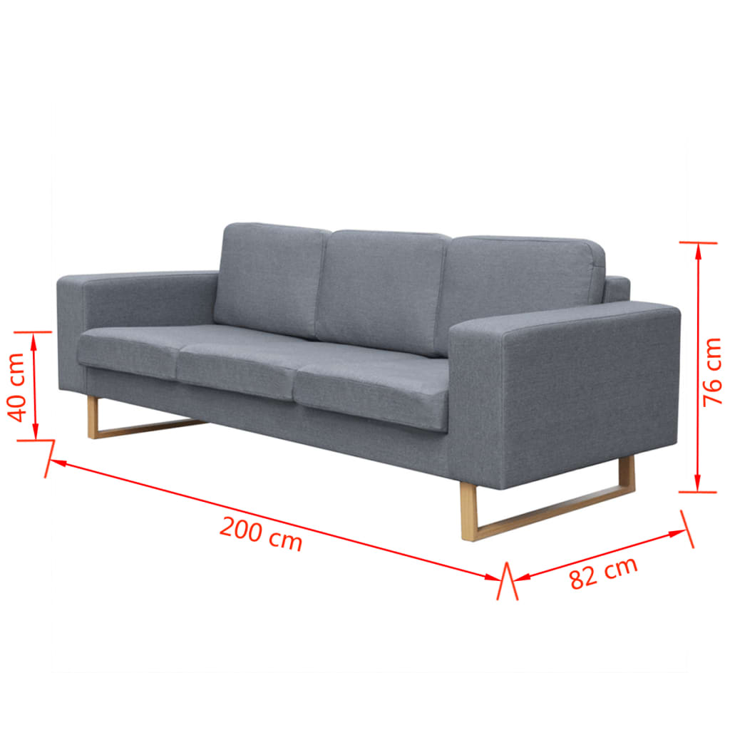 der vidaxl 2 sitzer und 3 sitzer sofa set hellgrau online shop. Black Bedroom Furniture Sets. Home Design Ideas