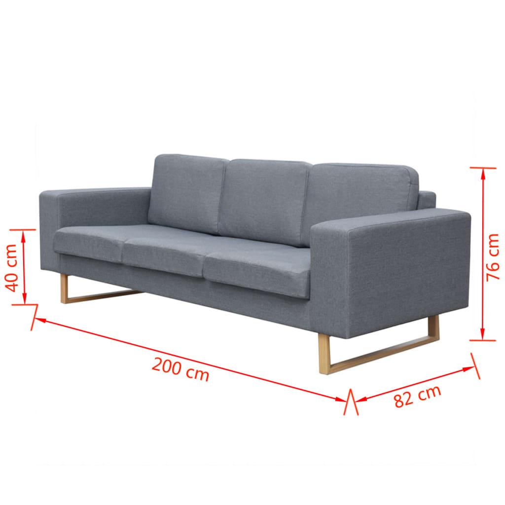 der vidaxl 2 sitzer und 3 sitzer sofa set hellgrau online shop. Black Bedroom Furniture Sets. Home Design Ideas