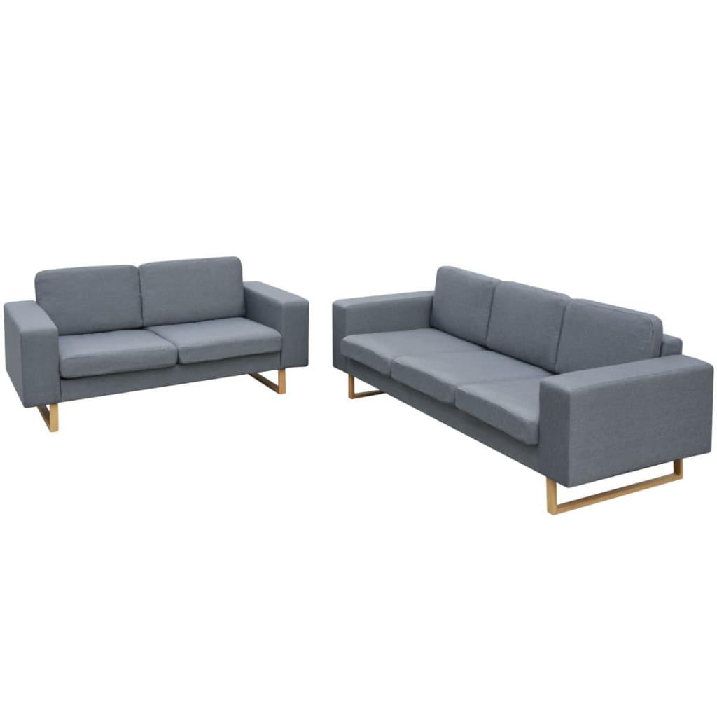 acheter vidaxl ensemble de canap 2 places et 3 places. Black Bedroom Furniture Sets. Home Design Ideas