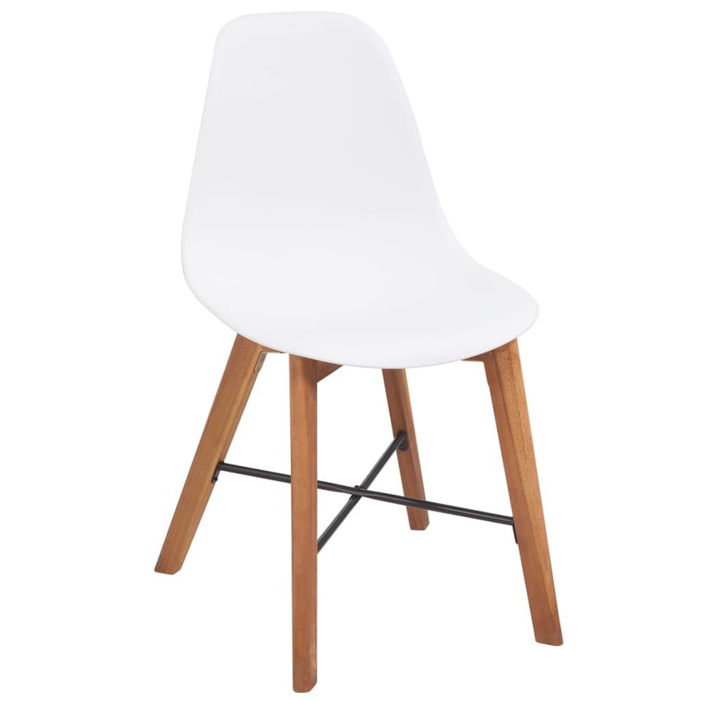 vidaxl dining chairs 2 pcs acacia wood white. Black Bedroom Furniture Sets. Home Design Ideas