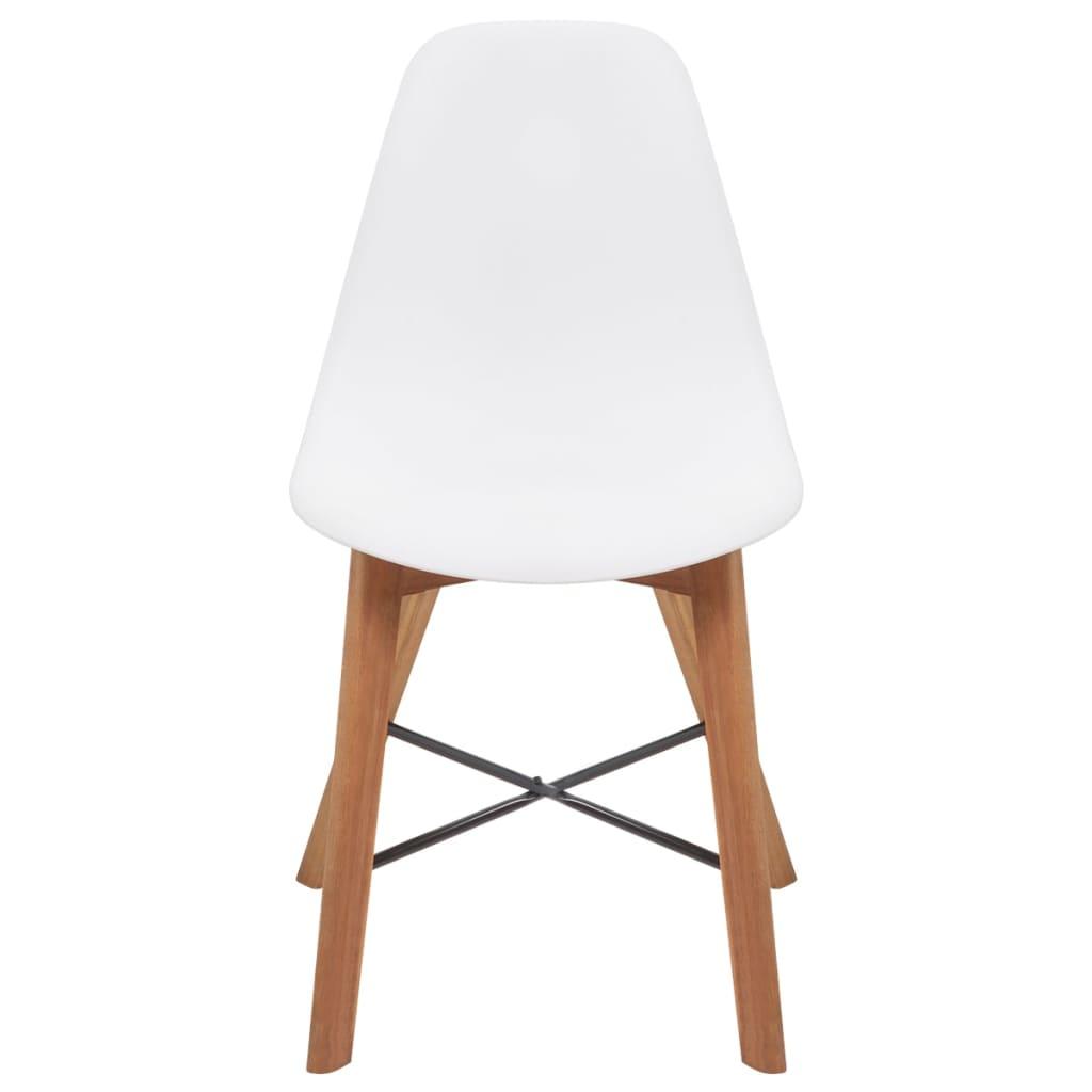 Vidaxl sedie sala da pranzo in legno di acacia 4 pz for Sedie bianche sala da pranzo