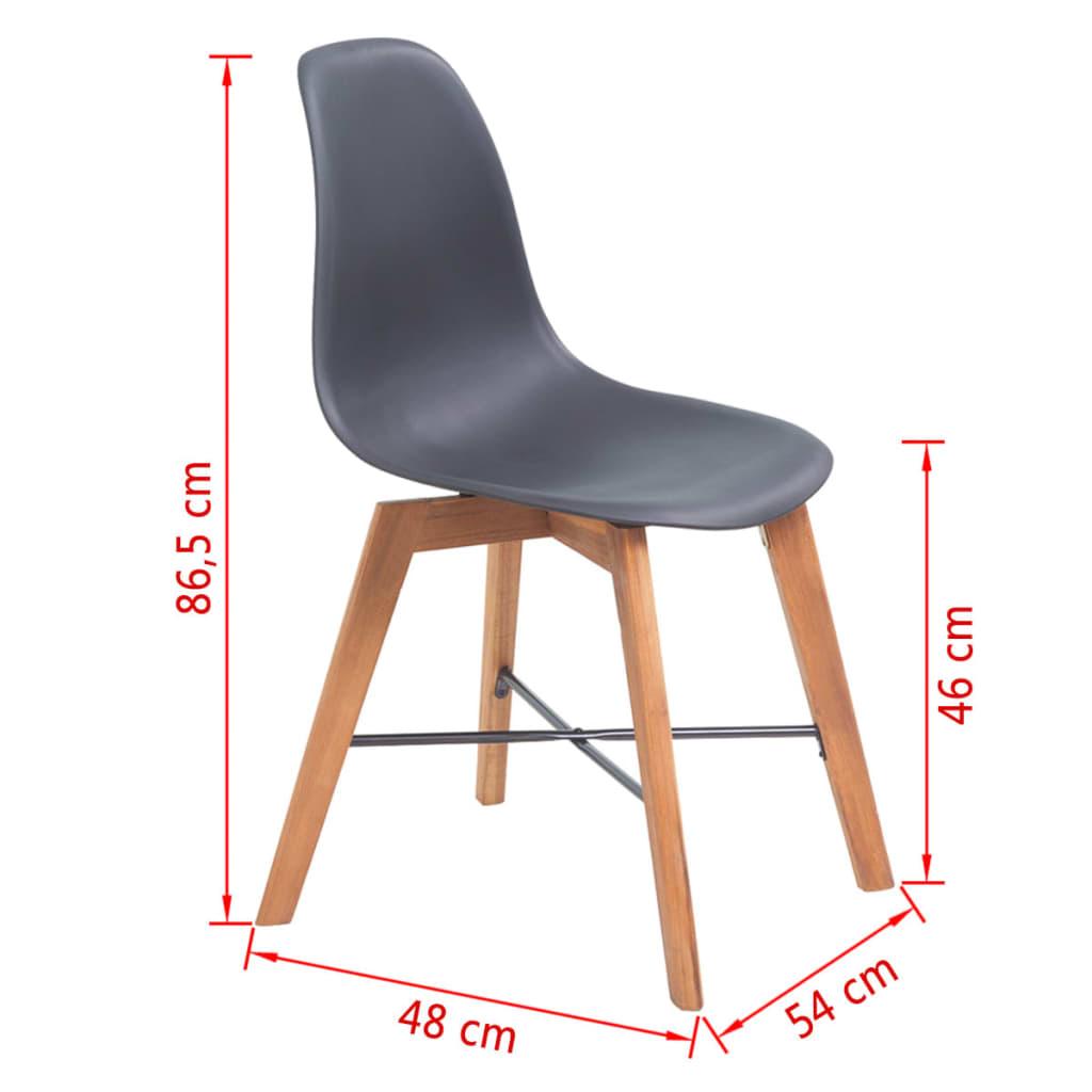 Vidaxl sillas de comedor de madera de acacia 4 unidades for Comedor 4 sillas madera