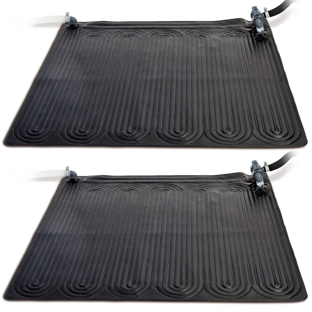 Afbeelding van Intex Verwarmingsmat op zonne-energie 2 stuks PVC 1,2x1,2 m Zwart 28685