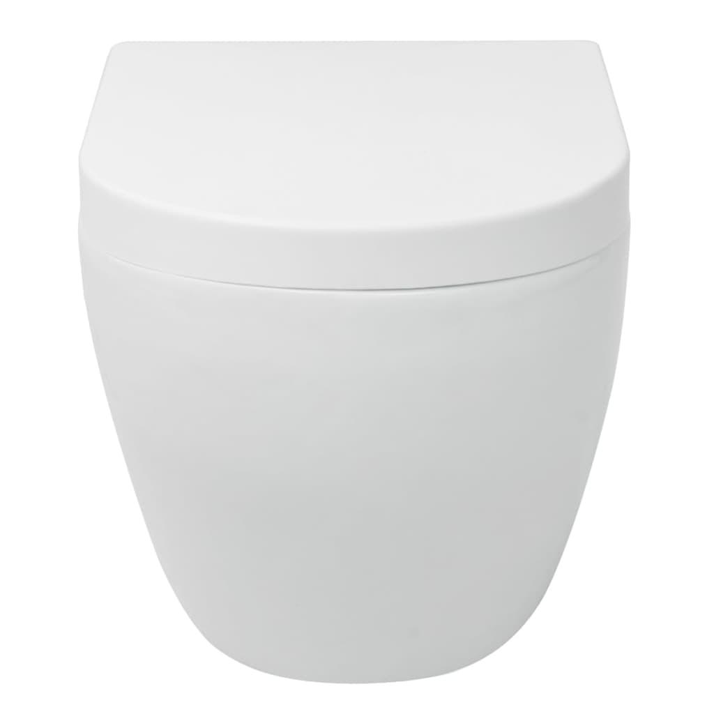 vidaxl wandh ngende toilette mit sp lkasten keramik wei g nstig kaufen. Black Bedroom Furniture Sets. Home Design Ideas