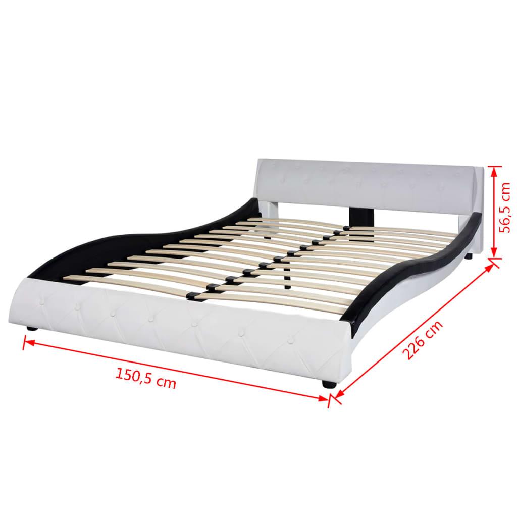 vidaxl bett mit memory matratze kunstleder 140x200 cm. Black Bedroom Furniture Sets. Home Design Ideas