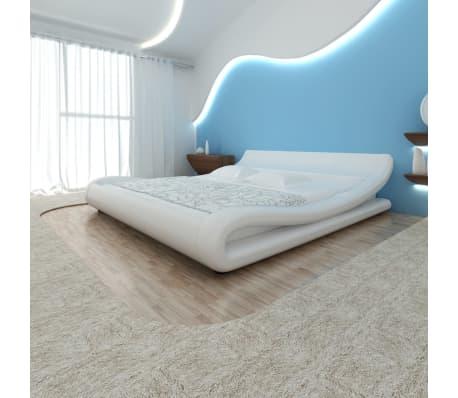 der vidaxl bett mit matratze kunstleder 180x200 cm curl weiß, Hause deko