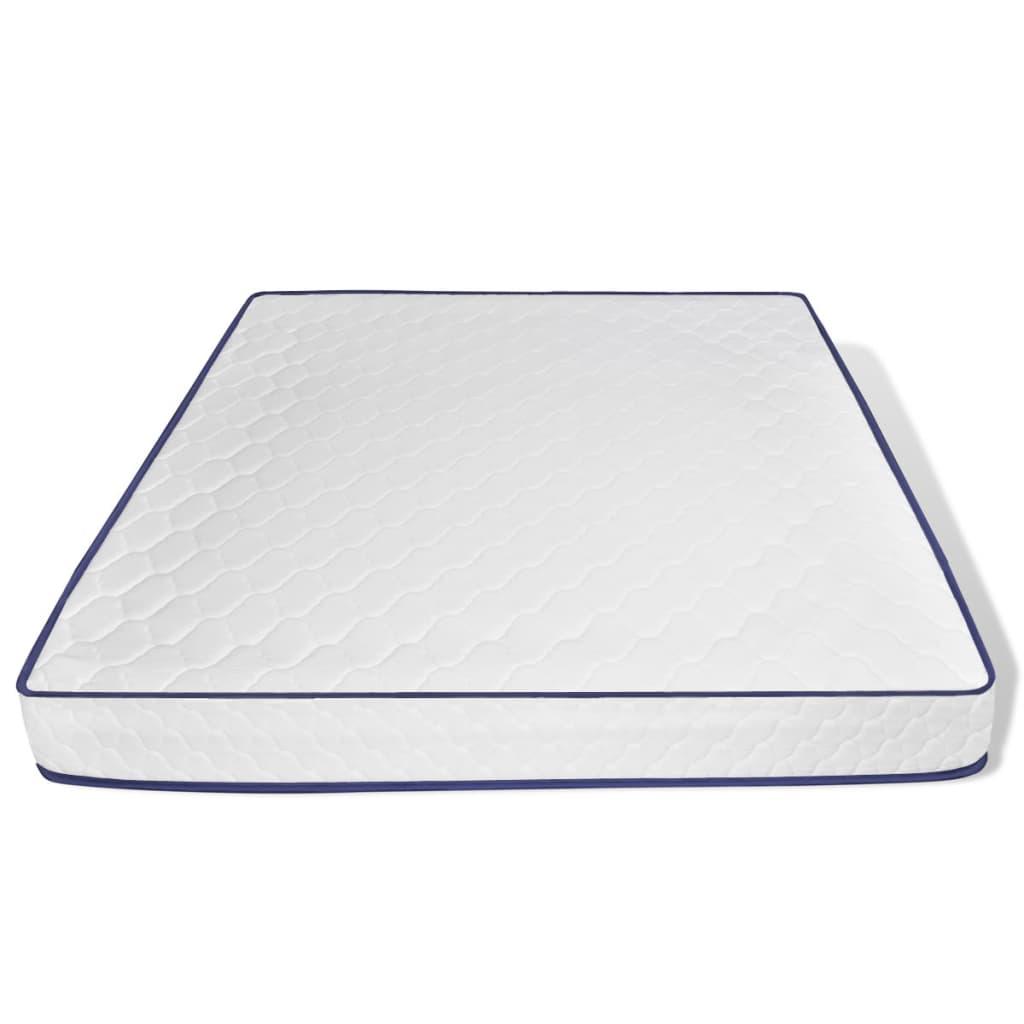 Der vidaXL Bett + LED & Memorymatratze Kunstleder 180x200 cm Curl ...