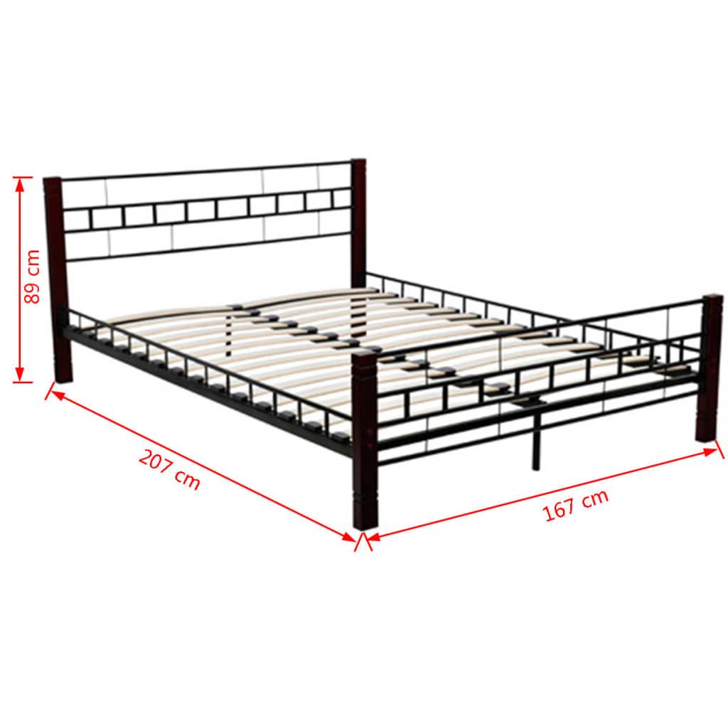 der vidaxl doppelbett mit memoryschaum matratze metall. Black Bedroom Furniture Sets. Home Design Ideas