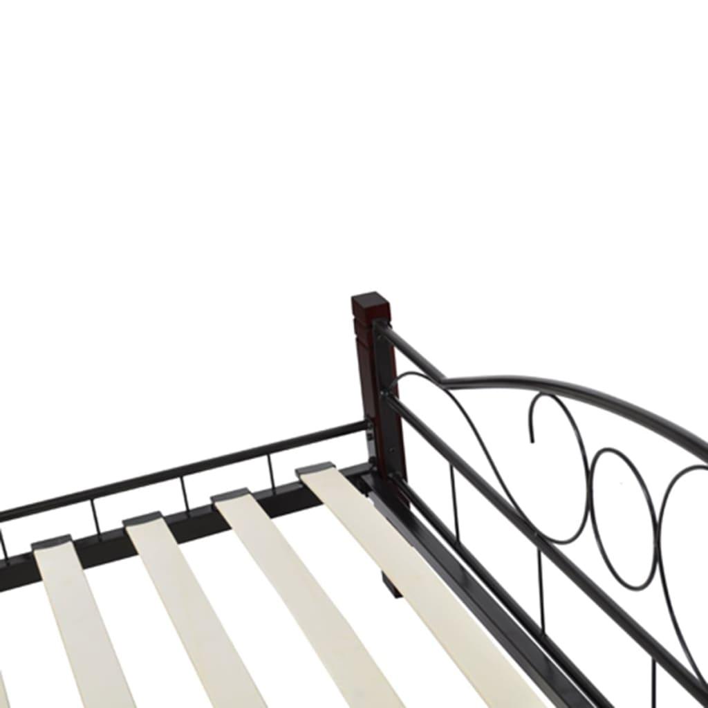 vidaxl doppelbett mit matratze metall schwarz 160x200 cm g nstig kaufen. Black Bedroom Furniture Sets. Home Design Ideas