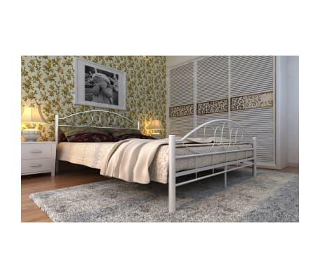vidaxl doppelbett mit matratze metall wei 160x200 cm de. Black Bedroom Furniture Sets. Home Design Ideas