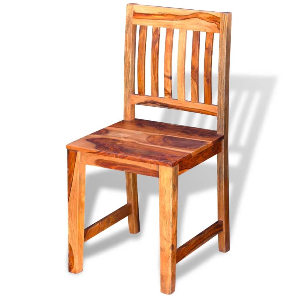 Acheter vidaxl chaises de salle manger en bois de for Chaise salle a manger vidaxl