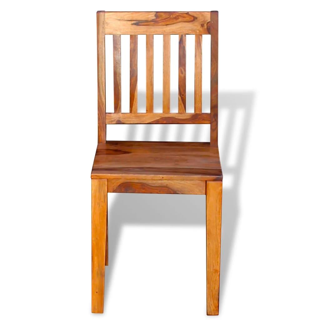 Vidaxl sedie sala da pranzo 6 pz in legno massello di for Sedie in legno per sala da pranzo